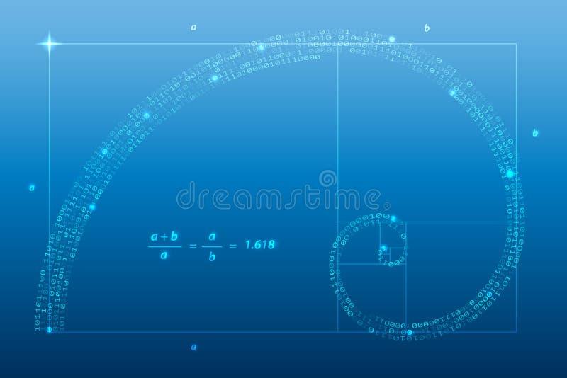 goldener schnitt vektor abbildung illustration von reihenfolge 34731269. Black Bedroom Furniture Sets. Home Design Ideas