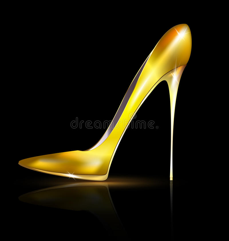 Goldener Schuh stock abbildung