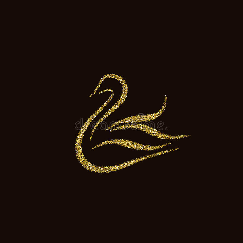 Goldener Schwan vektor abbildung