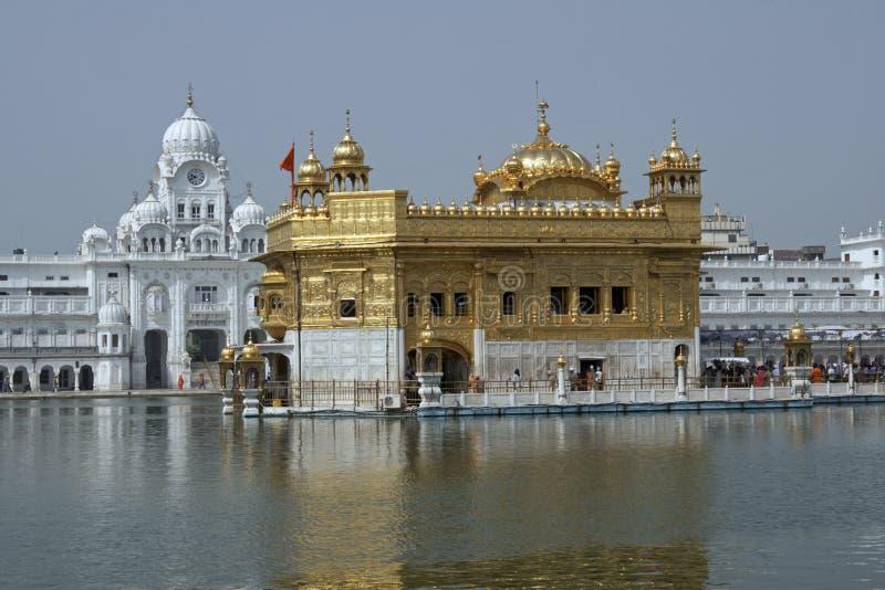 Goldener Sikhtempel lizenzfreie stockfotos