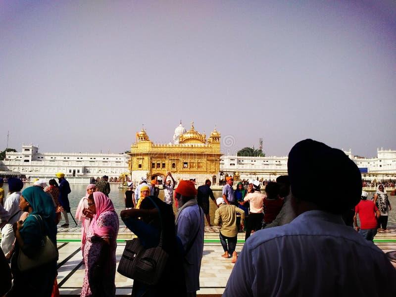 Goldener Sikhtempel Amritsar, Punjab stockbild