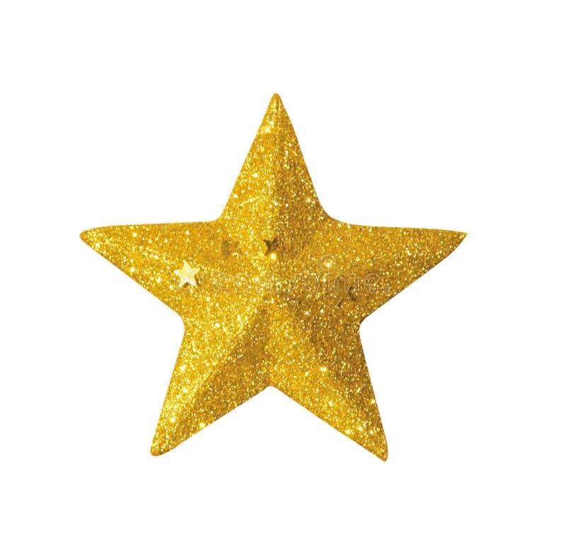Goldener Stern lizenzfreie stockbilder
