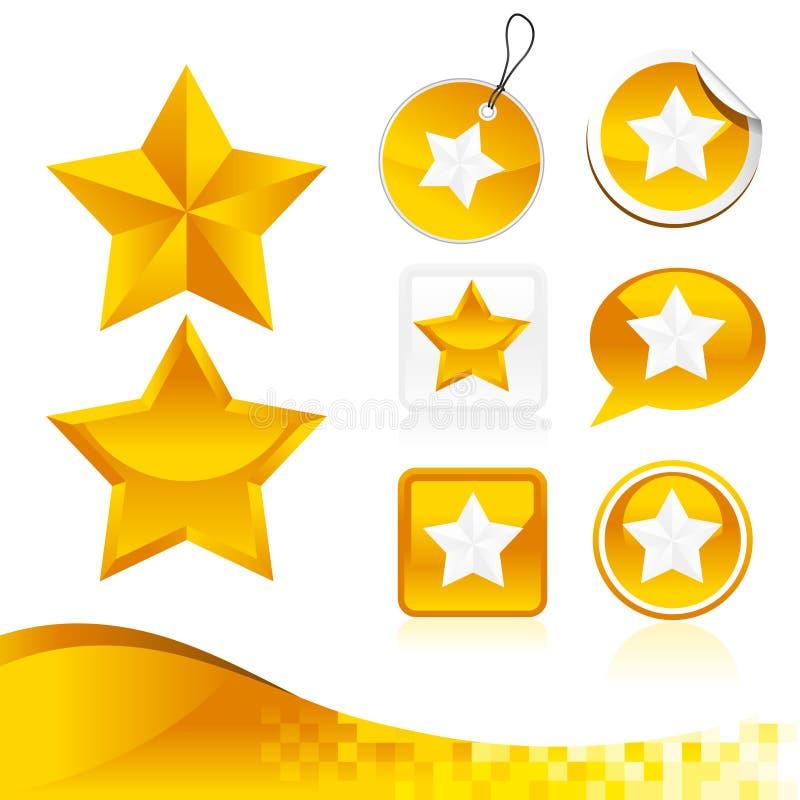 Goldener Stern-Auslegung-Satz lizenzfreie abbildung