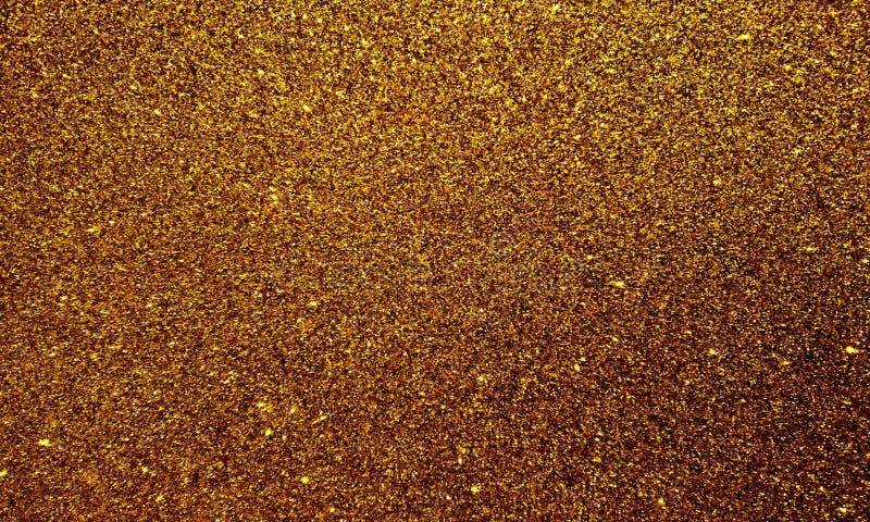 Goldener strukturierter Hintergrund mit Funkelneffekthintergrund stock abbildung