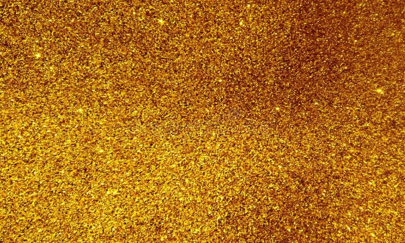 Goldener strukturierter Hintergrund mit Funkelneffekthintergrund lizenzfreie stockfotos