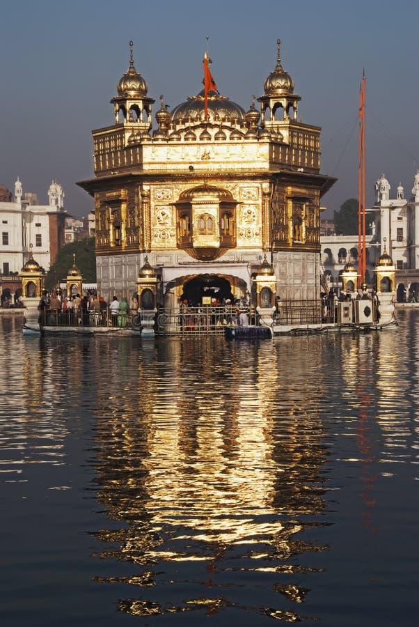 Goldener Tempel; Amritsar lizenzfreies stockfoto
