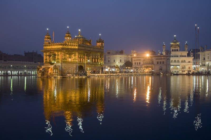 Goldener Tempel - Amritsar - Indien lizenzfreies stockbild