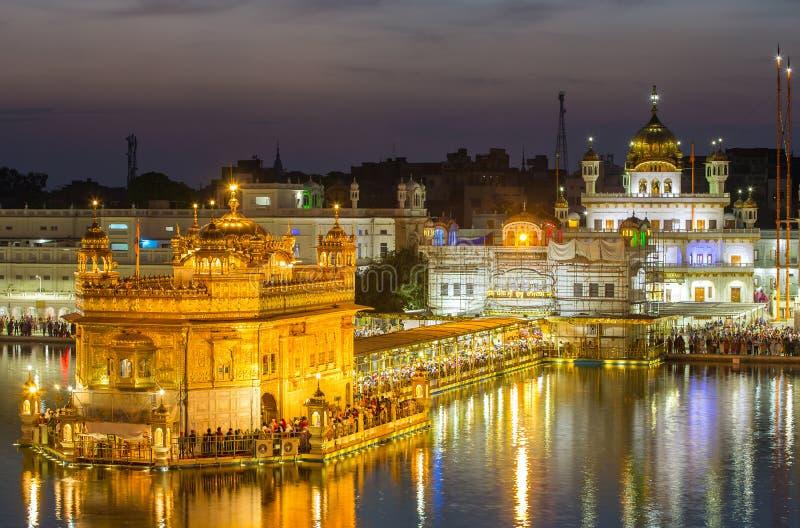 Goldener Tempel in Amritsar, Indien stockbilder