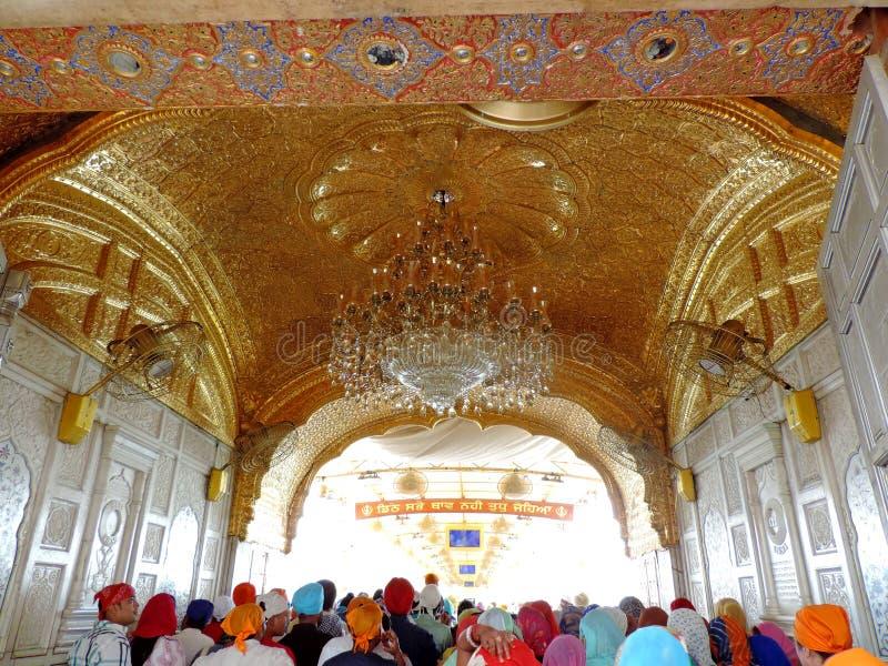Goldener Tempel, Amritsar, Indien lizenzfreie stockfotos