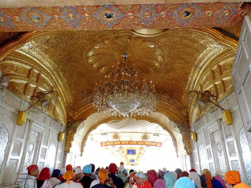 Goldener Tempel, Amritsar, Indien lizenzfreie stockbilder