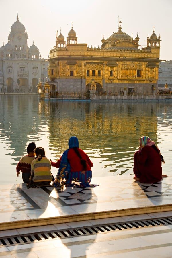 Goldener Tempel in Amritsar, Punjab, Indien. lizenzfreies stockbild