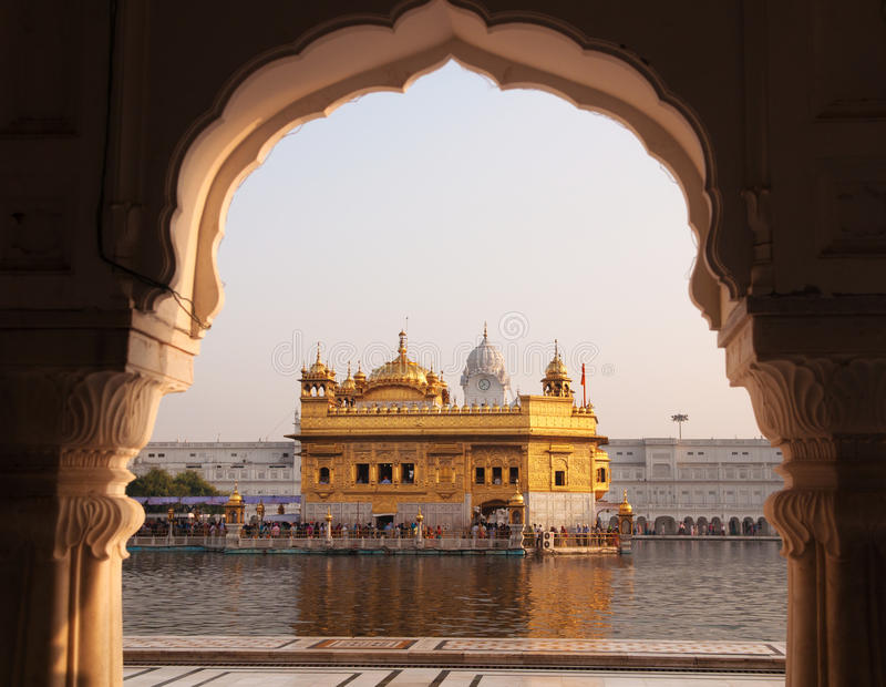 Goldener Tempel Amritsars - Indien. lizenzfreies stockfoto