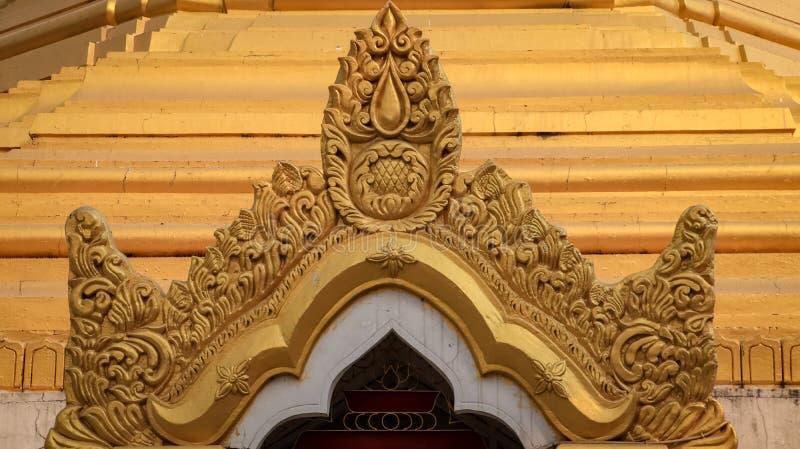 Goldener Tempel Myanmar lizenzfreies stockfoto