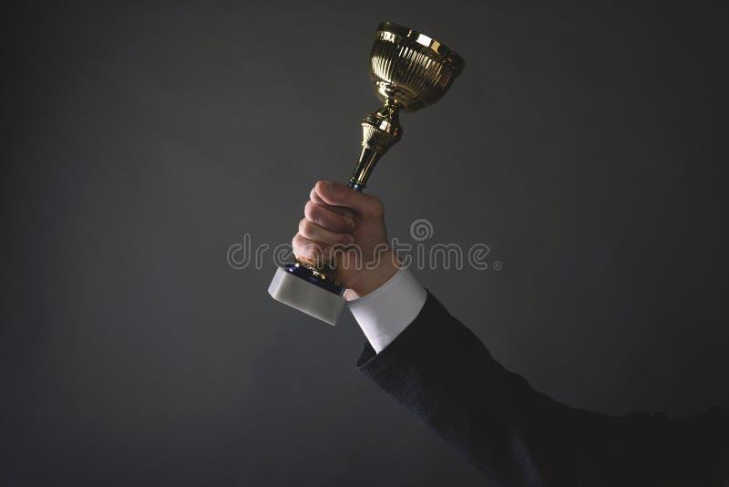 Goldener Trophäepreis stockbild
