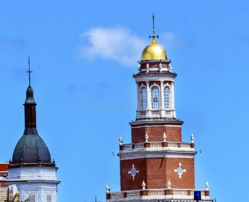 Goldener Turm-Wohncollege Yale University New Haven Connecticut stockfoto