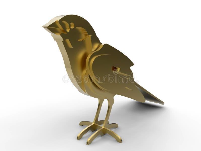 Goldener Vogelpreis - Trophäe lizenzfreie abbildung