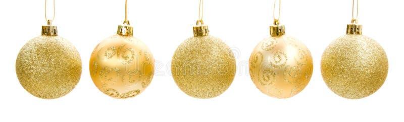 Goldener Weihnachtsflitter stockfotografie