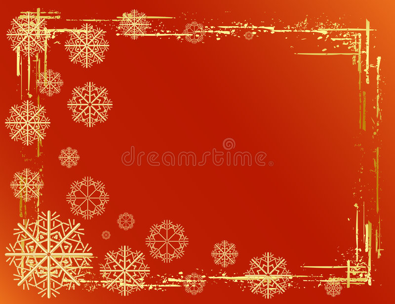 Goldener Weihnachtshintergrund stock abbildung