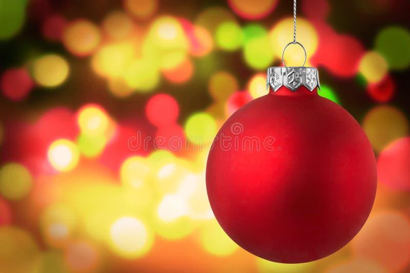 Goldener Weihnachtslicht Szenen-Hintergrund lizenzfreies stockfoto