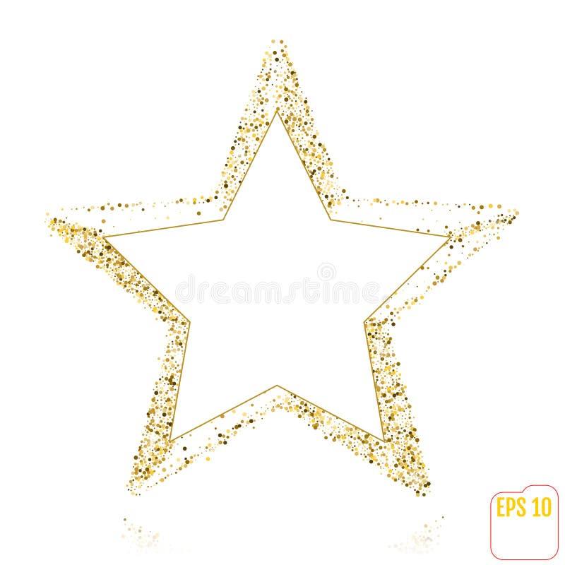 Goldener Weihnachtsstern getrennt auf weißem Hintergrund lizenzfreie abbildung