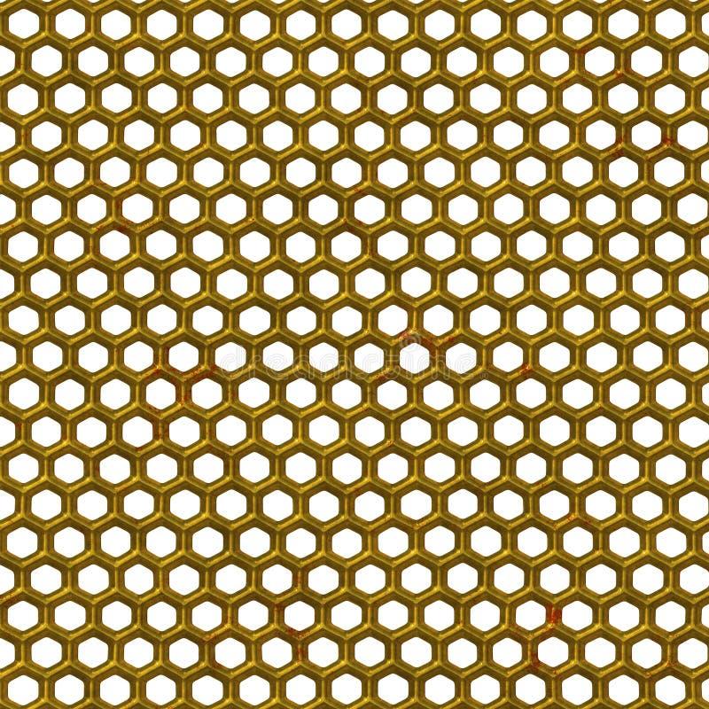 Goldener Zaun lizenzfreie abbildung