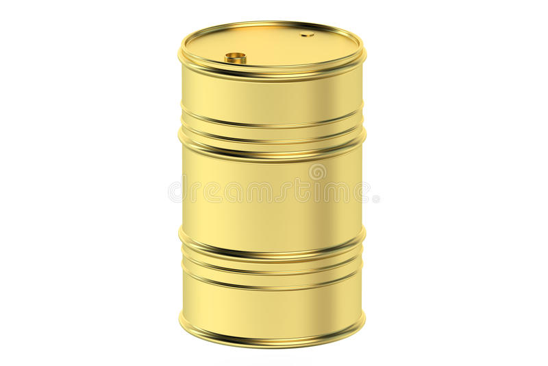 Goldenes Ölbarrel stock abbildung