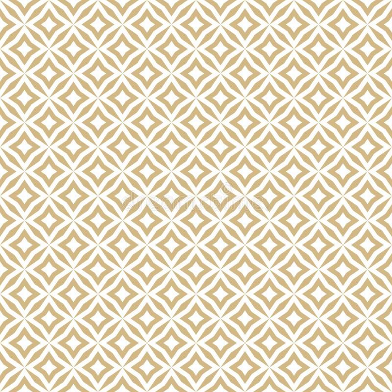 Goldenes abstraktes nahtloses mit Blumenmuster Vektorgold und wei?er Hintergrund lizenzfreie abbildung
