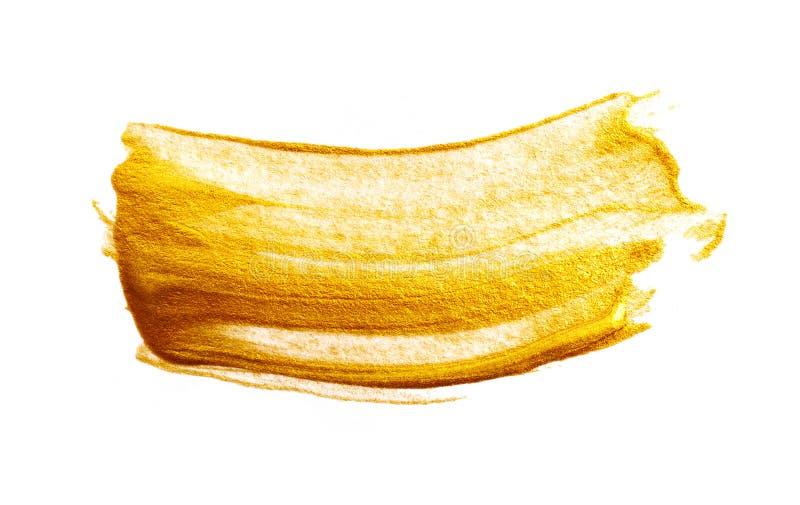 Goldenes Anschlagfarben-Elementdesign auf weißem Hintergrund lizenzfreies stockbild