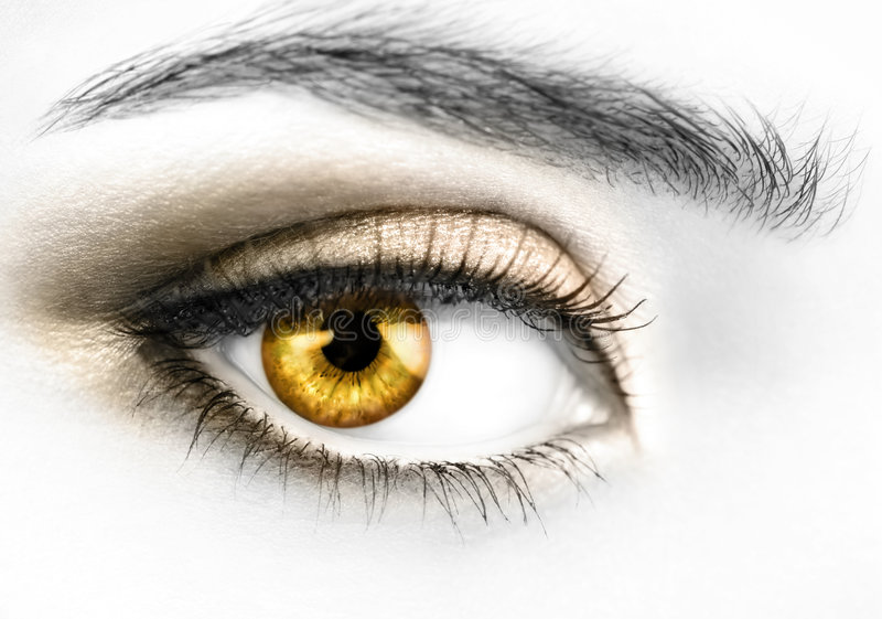 Goldenes Auge stockfotos