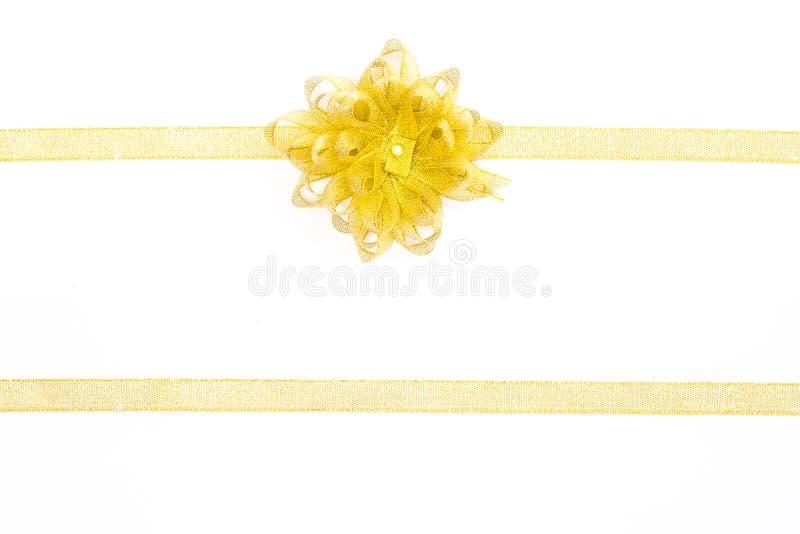 Goldenes Band lokalisiert auf weißem Hintergrund stockfoto