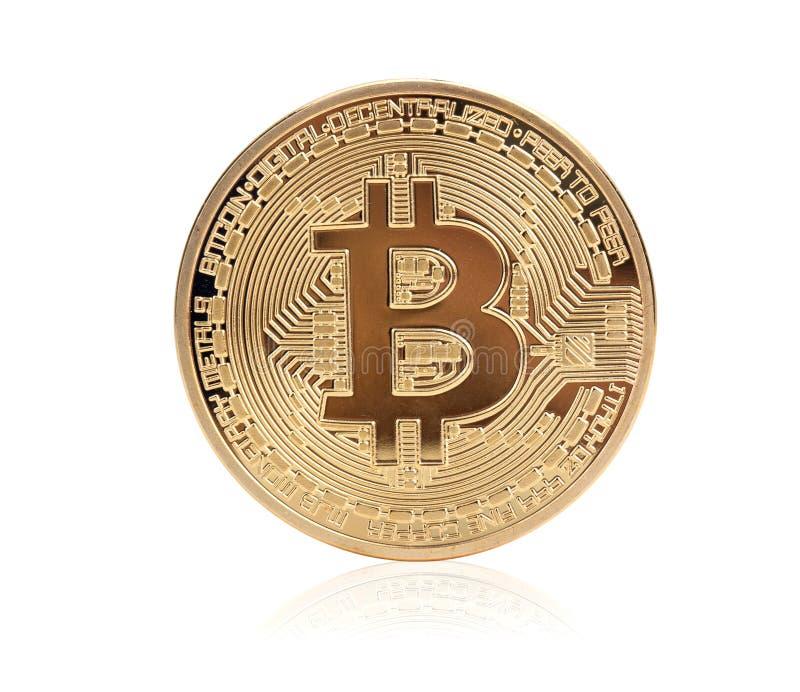 Goldenes Bitcoin lizenzfreies stockbild