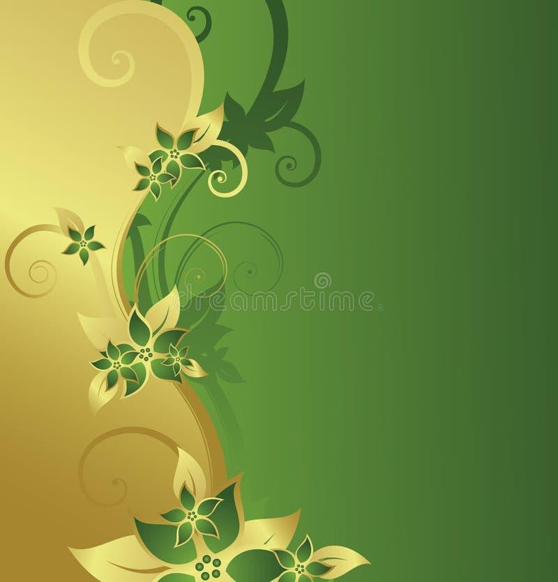 Goldenes Blumenfeld lizenzfreie abbildung