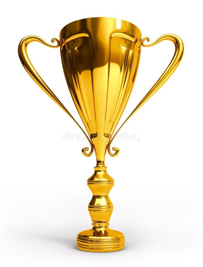 Goldenes Cup stock abbildung