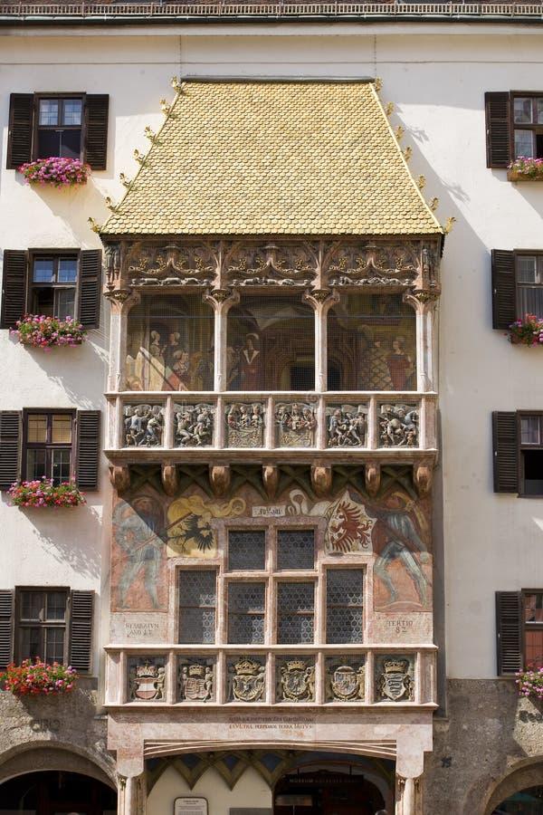 Goldenes Dachl或金黄屋顶,因斯布鲁克,奥地利 图库摄影