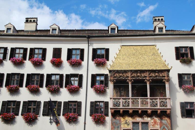 Goldenes Dachl金黄屋顶,因斯布鲁克,奥地利 库存图片