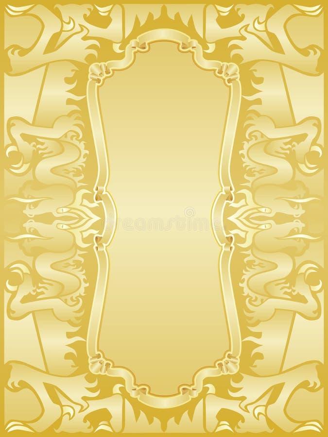 Goldenes Drachefeldset lizenzfreie abbildung