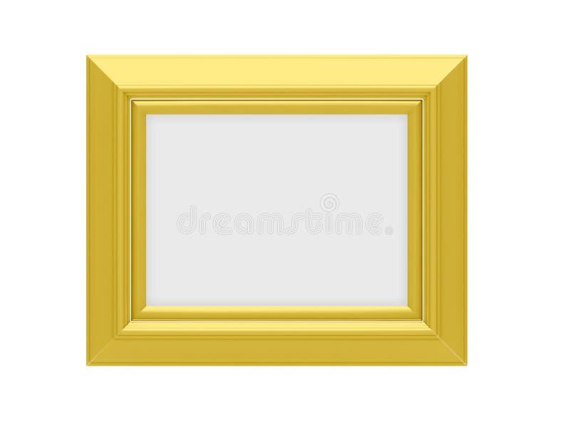 Goldenes Feld über Weiß stock abbildung