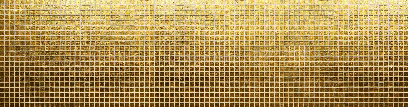 Goldenes Fliesenmuster stockbild