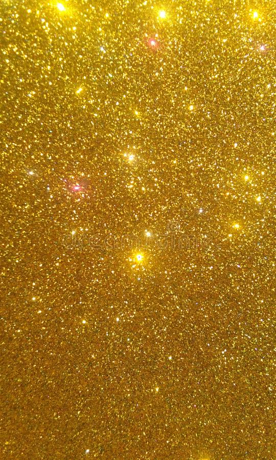 Goldenes Funkeln maserte Hintergrund, helles schönes glänzendes goldenes Funkeln vektor abbildung
