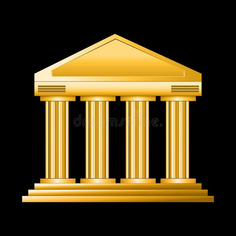 Goldenes Gericht lizenzfreie abbildung