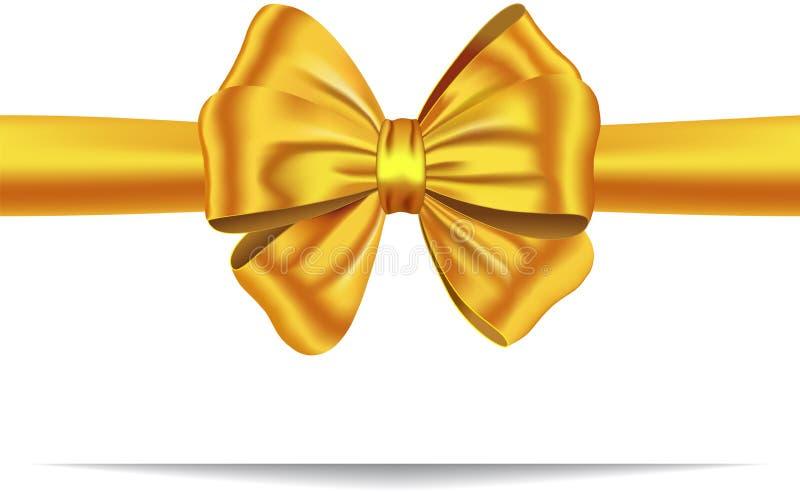 Goldenes Geschenkfarbband mit Bogen