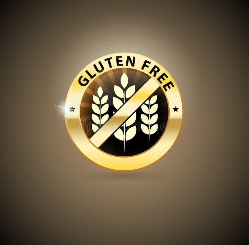 Goldenes Gluten geben Ikone frei vektor abbildung