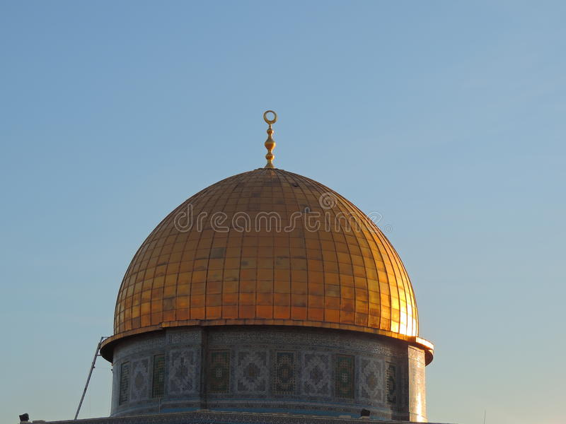 Goldenes Grab der Al-Aqsamoschee, Jerusalem lizenzfreie stockbilder