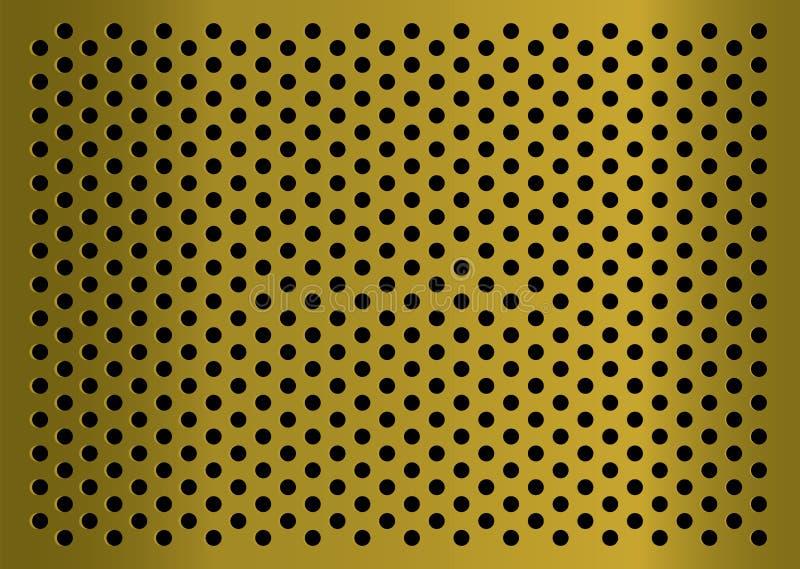 Goldenes gratted Metall lizenzfreie abbildung