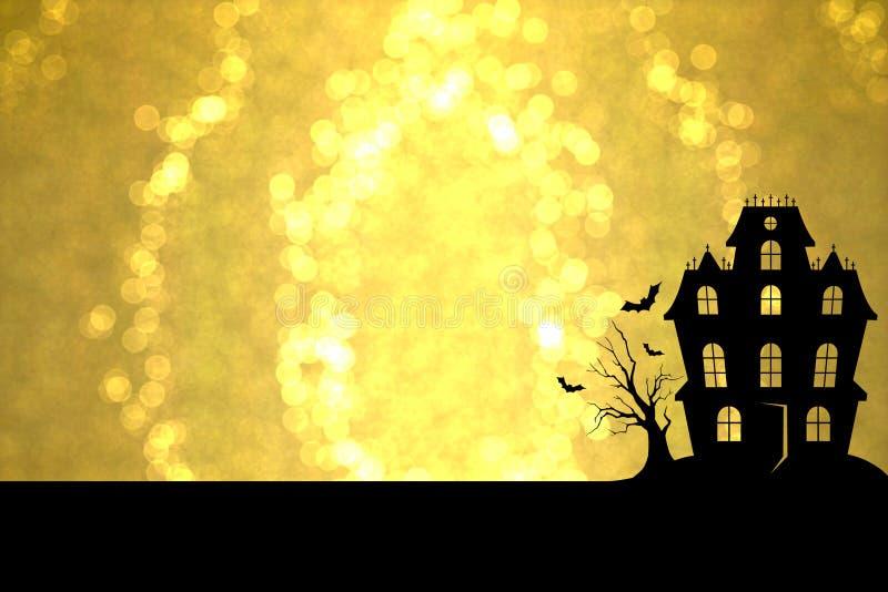 Goldenes Halloween lizenzfreies stockfoto