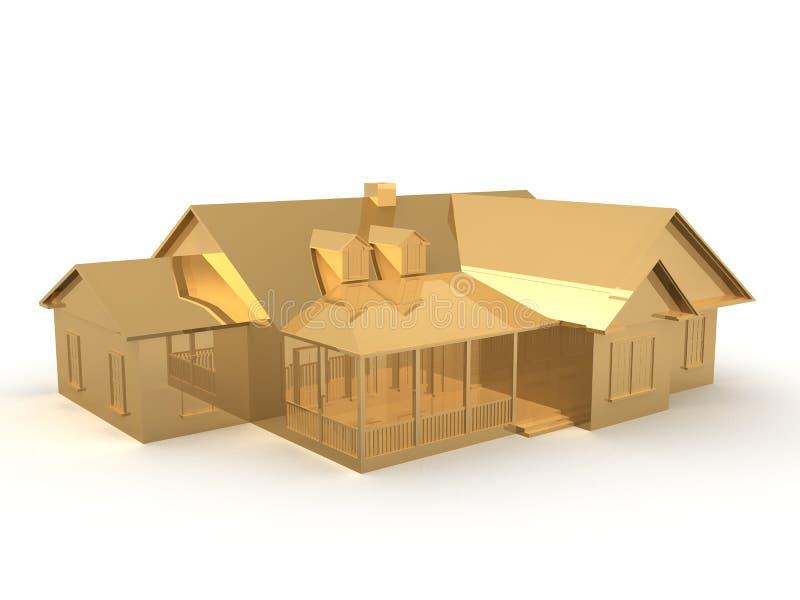 Goldenes Haus lizenzfreie abbildung