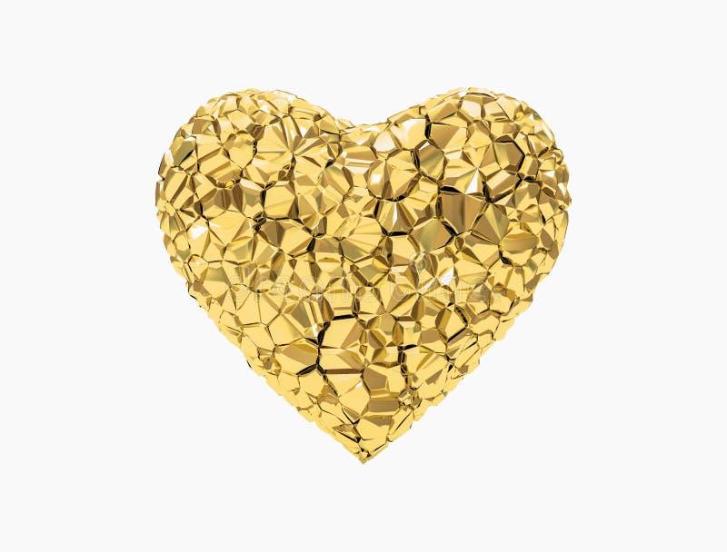 Goldenes Inneres stock abbildung