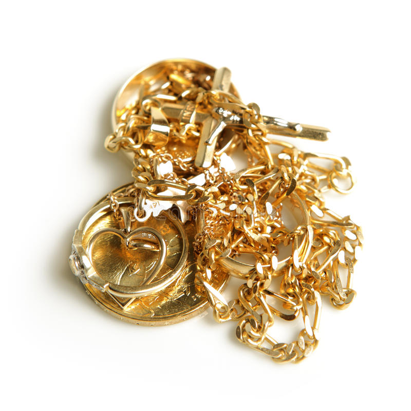 Goldenes jewelery lizenzfreie stockbilder