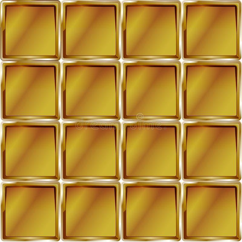 Goldenes Käfigzusammenfassungsgelb-Musterdesign stock abbildung