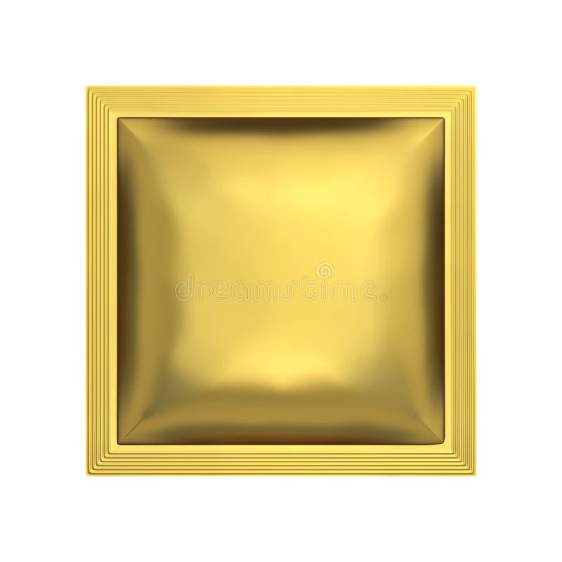 Goldenes Kissentaschenpaket lizenzfreie abbildung